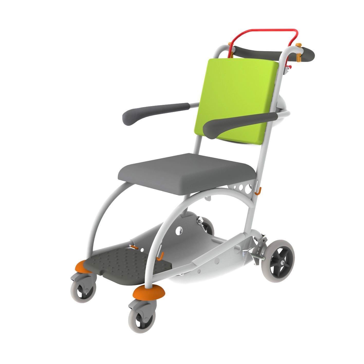Manchester 3 Hand Brake Version Green Transfer Chair Acime